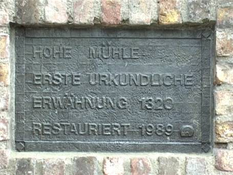 Uedem : Info-Tafel, Hohe Mühle